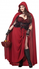Dark Red Riding Hood Plus Size Adult Costume
