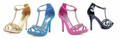 Darling 4 inch Rhinestone Sandals Ellie Shoes