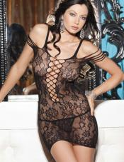 Dress Stretch Lace Strappy Shirley