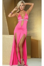 Dual Slit Sequin Long Gown Espiral