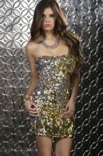Elena Strapless Sequin Dress