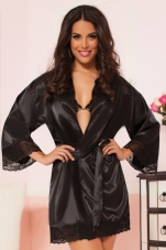 Enchanting Satin and Lace Robe Seven Til Midnight