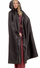 Fancy Masquerade Black Adult Cape