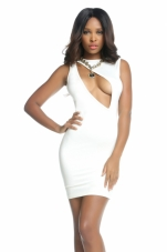 Farah Keyhole Cutout Dress Forplay