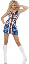 Fever All That Glitters Rule Britannia Adult Costume Smiffys