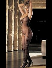 Fishnet Criss Cross Bodystocking Shirley