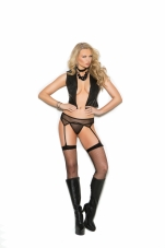 Fishnet Garter Belt with Matching Panty