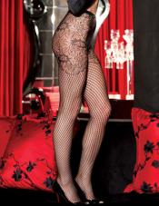 Floral Fishnet Pantyhose Shirley