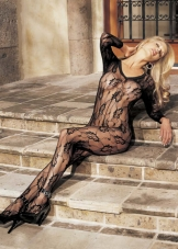 Floral Lace Bodystocking Shirley