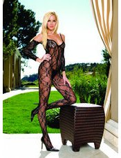 Flower Lace Bodystocking with Sleeves