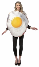 Fried Egg Adult Cotume Costume Rasta Imposta
