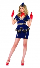 Friendly Skies Flight Attendant Costume Leg Avenue