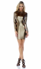 Full Circle Matte Coated Mini Dress Forplay
