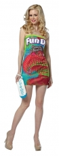Fun Dip Strapless Dress Adult Costume Rasta Imposta
