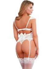 Gartered Lace Bustier and  Panty Dreamgirl