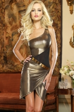 Gold n' Spicy Metallic Club Dress