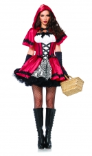 Gothic Red Riding Hood Costume Leg Avenue