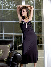 Gown with Embroidered Lace Vx Intimate Lingerie