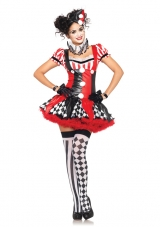 Harlequin Clown Costume Leg Avenue