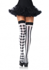 Harlequin Thigh High Tights