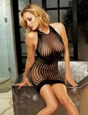 Honeycomb Fishnet Dress Shirley