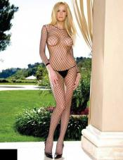 Industrial Net Long Sleeved Bodystocking Leg Avenue