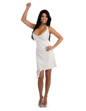 Jersey Shore JWoWW White Halter Lace Dress Costume