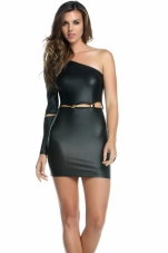 Kennedy Edgy Gold Button Dress