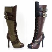 Knee High Steampunk Boots Ellie Shoes