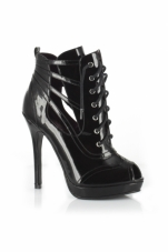 Kurumi 5 Inch Lace-Up Ankle Bootie Ellie Shoes