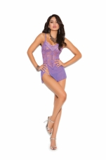 Lace and Mesh Babydoll with Adjustable Straps