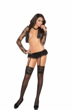 Lace Garter Belt with Double Layers