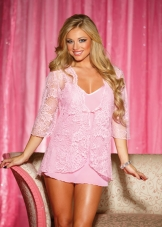Lace Pegnoir Robe Set Shirley