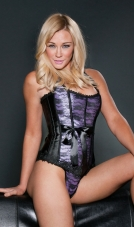Lavender Lace Corset and G-String