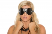 Leather Blindfold with D Ring Detail Elegant Moments