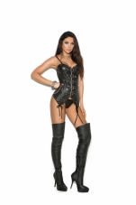 Leather Bustier with Underwire Cups Elegant Moments