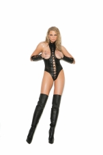 Leather Cupless Teddy Elegant Moments