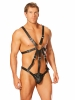Leather Harness with Attached Pouch