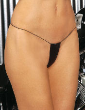 Leather Micro Mini Thong