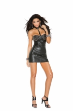 Leather Mini Dress Elegant Moments