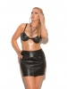 Leather Underwire Bra with adjustable straps Elegant Moments