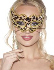 Leopard Hand Held Mask Shirley