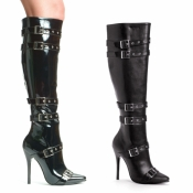 Lexi 5 Inch Knee High Boots With Buckles Ellie Shoes