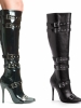 Lexi 5 Inch Knee High Boots With Buckles