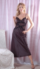 Long Gown with Lace-Up Back Vx Intimate Lingerie