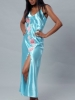 Long Gown with Side Slit Vx Intimate Lingerie