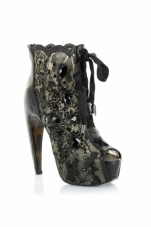 Lula 5.5 Inch Lace Overlay Ankle Bootie Ellie Shoes