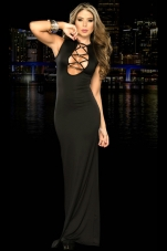 Luxury Lace-Up Long Gown Espiral