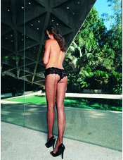 Lycra Industrual Net Panty Hose with Seam Back Leg Avenue