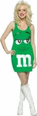 M&M Green Costume Rasta Imposta